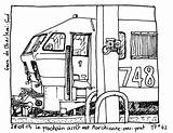 Locomotive Train Transportation Coloring Pages Printable Drawing Drawings Kb sketch template