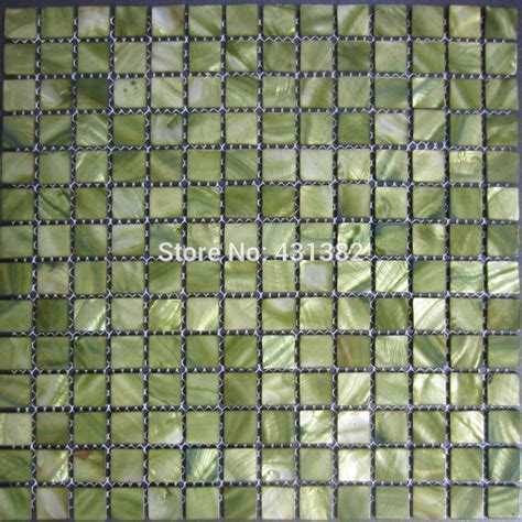 Free shipping !Mosaic tiles green,mother of pearl tiles