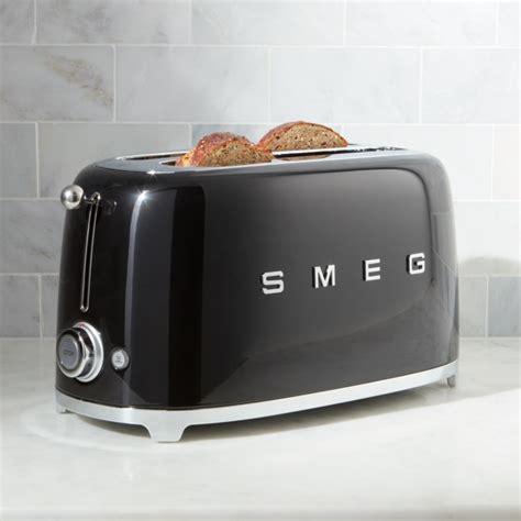 smeg black  slice toaster reviews crate  barrel