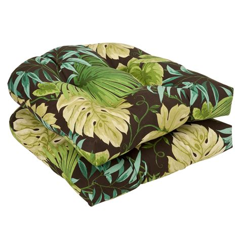 green brown tropical outdoor cushion collection