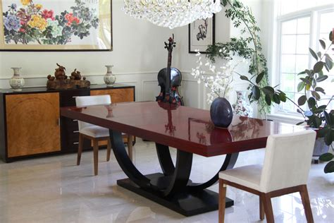 omni dining table by century furniture a plastic surgeon