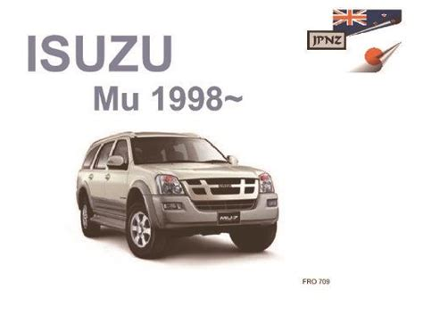 isuzu mu 1998 on owners manual engine 4jx1 6vd1