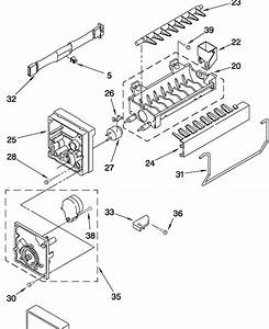 27 Whirlpool Refrigerator Ice Maker Parts Diagram
