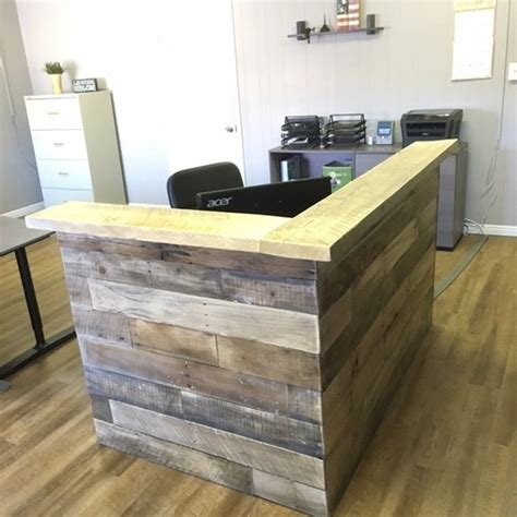 reclaimed wood reception desk reclaimed wood reception counter reclaimed wood retail sales 4536