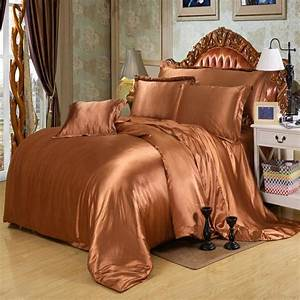 Ivory, Color, Silk, Bedding, Sets, Twin, Full, Queen, King, Size