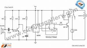 Clap Switch Circuit Using Ne555 Timer Ic