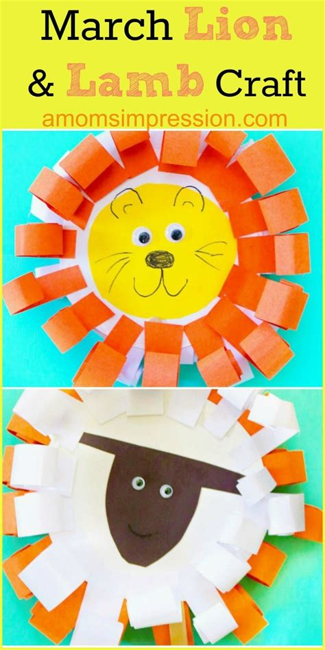 easy and adorable paper plate march and craft 928   Adorable Paper Plate March Lion and Lamb Craft 1