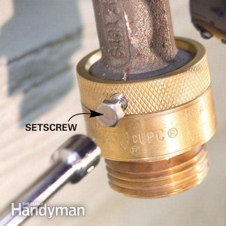 Fix Leaks At The Garden Hose Spigot  The Family Handyman