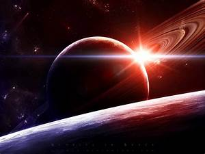 sunrise outer space planets saturn 1600x1200 wallpaper ...