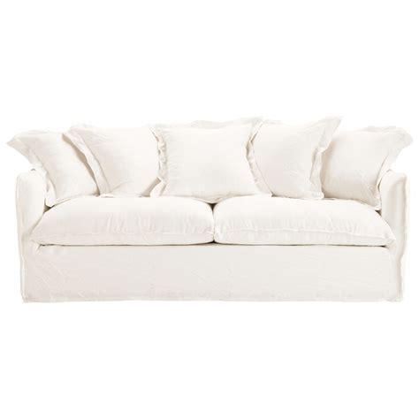 canapé en blanc canapé convertible 3 4 places en lavé blanc barcelone