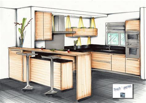 perspective cuisine perspectives aménagement intérieur images