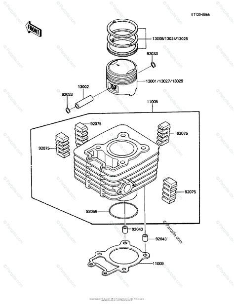 Kawasaki Atv Oem Parts Diagram For Cylinder Piston