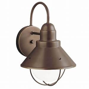 Lighting bronze finish : Kichler outdoor wall light in olde bronze finish oz