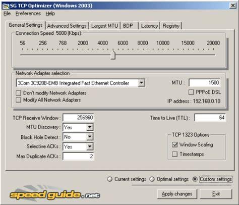 Best Tcp Optimizer Settings Best Free Tcp Settings Tweaker Gizmo S Freeware