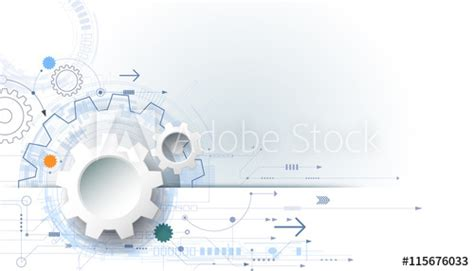 vector futuristic technology background  white paper