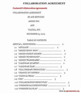 collaboration agreement sample collaboration agreement With collaboration contract template