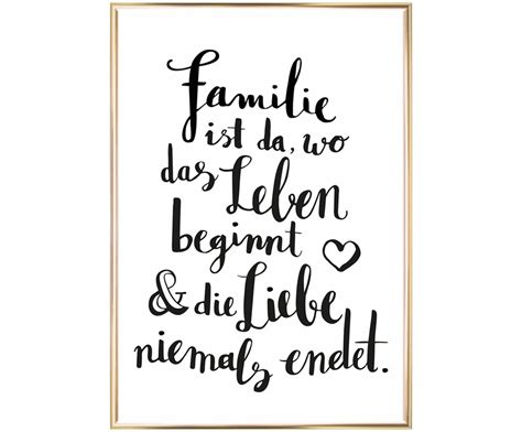 gerahmter digitaldruck familie spr 252 che family quotes