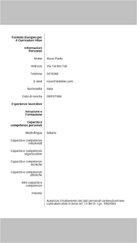 Cv Creator by Curriculum Vitae Medico Formato Europeo Word