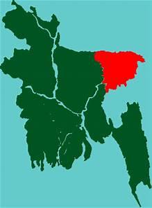 District Distance Chart Bangladesh Map Sylhet