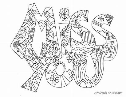 Coloring Miss Pages Card Doodle Greeting Printable