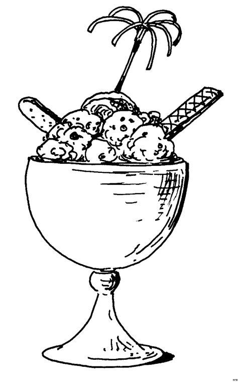 eisbecher  ausmalbild malvorlage essen und trinken