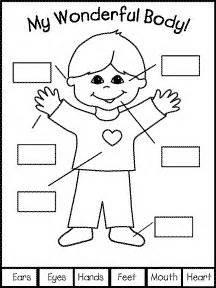 worksheet  kindergarten  body islamic clipart