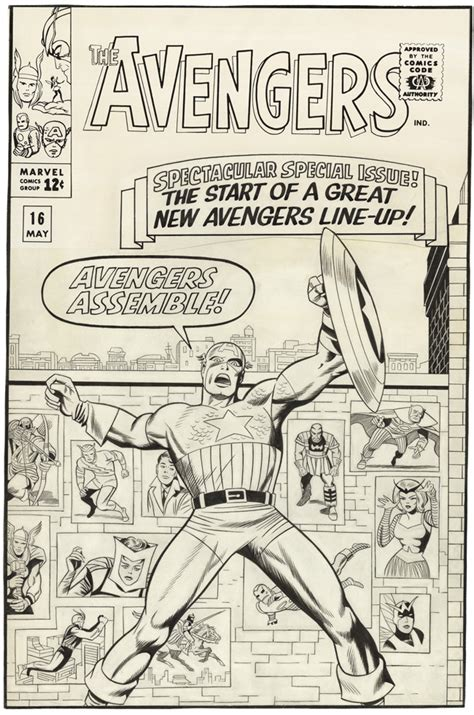gallery  comic art  jack kirby  avengers issue