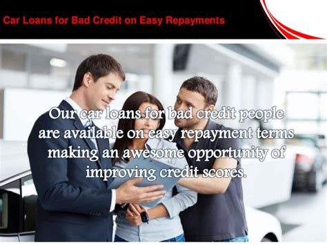 Best Deal On Car Loans For People With Bad Credit