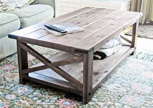 Ana white rustic x coffee table diy projects for Homemade rustic coffee table