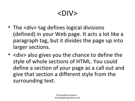 Html Span Div - span and div tags in html