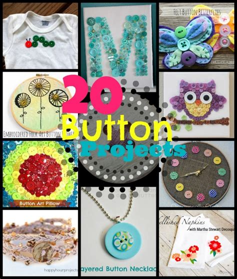 buttons craft ideas 20 button crafts happy hour projects 1198