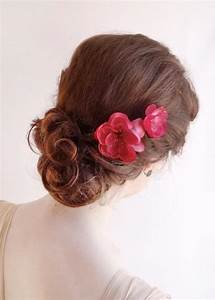 Raspberry Pink Hair Pins Bright Pink Flower Hair