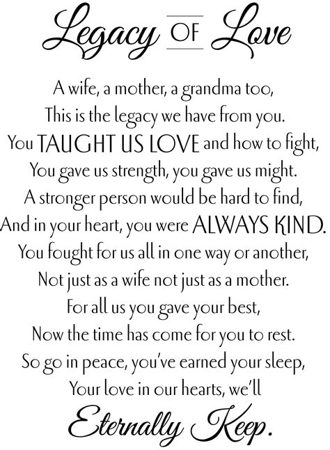 Tribute Center | Funeral poems, Legacy quotes, Mom poems