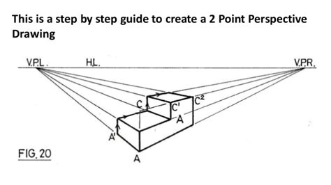 Drawing 2 point perspective - step by step guide