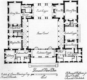 Central courtyard house plans find house plans for Courtyard home plans
