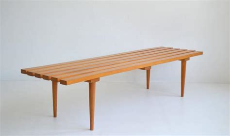 mid century slat bench mid century wood slat bench for at 1stdibs