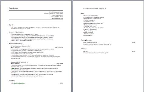 machine operator resume appealing cnc machine operator