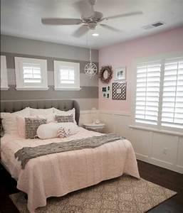 1001 conseils et idees pour une chambre en rose et gris With chambre grise et rose poudre