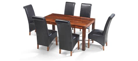 cube sheesham 160 cm dining table and 6 chairs quercus