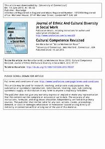 (PDF) Cultural Competence Revisited