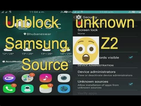 install apps from unknown sources in tizen samsung z2