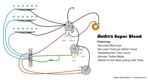 Guitar Blend Pot Wiring Diagram by Strat Wiring Diagram Blender Pot Wiring Library