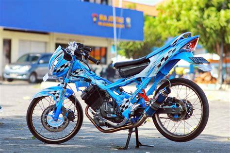 Gambar Modification Motor 100 gambar modifikasi satria fu keren terbaru modif drag