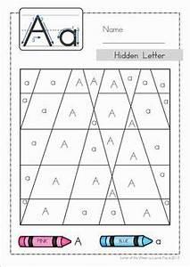 Color By Letter Printables For Kindergarten - hidden image ...