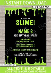 Winter Party Invitation Template Slime Party Invitations Template Slime Birthday Invite