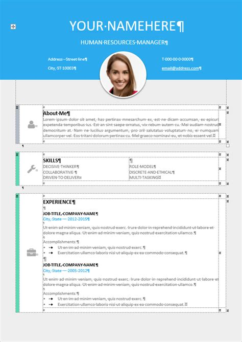 11274 free modern resume templates le marais free modern resume template