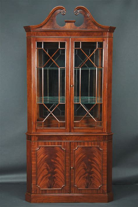Furniture Endearing Corner China Hutch With Glass Window