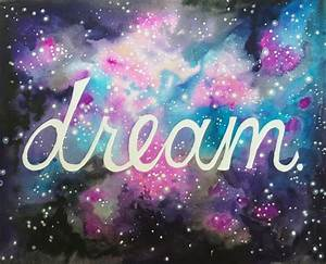 Galaxy Dream Watercolor Print Stars Inspirational Space