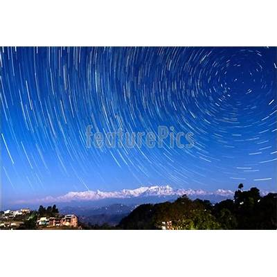 Photo Of Star Trails Over Bandipur Nepal