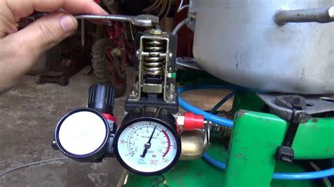 set air compressor shut  valve youtube
